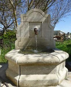 WHITE STONE FOUNTAIN FROM PROVENCE.