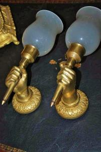 WALL LAMP BRONZE MADE. CIRCA 1900