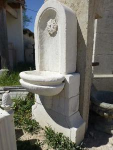 PROVENCAL WHITE STONE FOUNTAIN