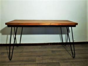WODDEN AND METAL CONSOLE/DESK JACQUES HITIER. 1960