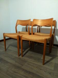 4 TEAK CHAIRS FROM NIELS OTTO MOLLER. CIRCA 1950.