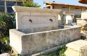 ANCIENT PROVENCAL WASH HOUSE IN WHITE STONE.