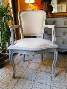 LOUIS XV PATINATED CHAIRS. LATE 19TH