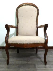OAK VOLTAIRE  ARMCHAIRS  PROVENCAL PATTERN LOUIS PHILIPPE STYLE