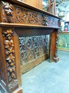 FABULOUS CARVED FIREPLACE HENRI II STYLE