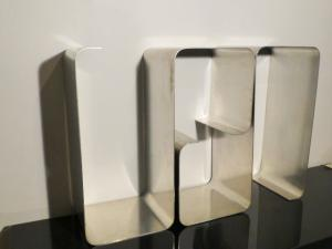 1970' STAINLESS STEEL SHELVES BY JOELLE FERLANDE