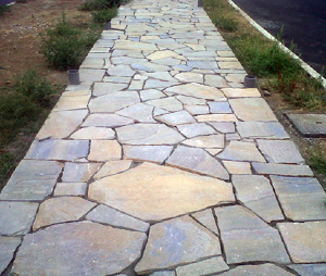 STONE PAVING STONE OF GNEISS.