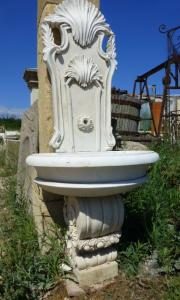 WHITE MARBLE FOUNTAIN.LATE XIX CENTURY